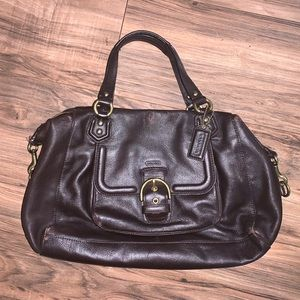 Authentic Brown Leather Coach Bag *Does Have Wear*